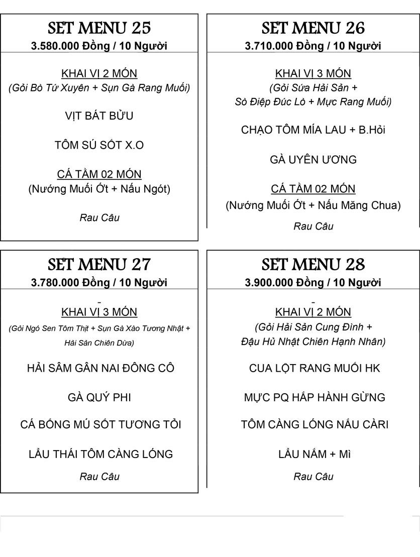 Menu Hương Cau 2 - Tân Canh 34