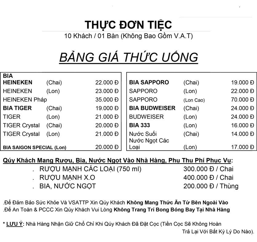 Menu Hương Cau 2 - Tân Canh 36