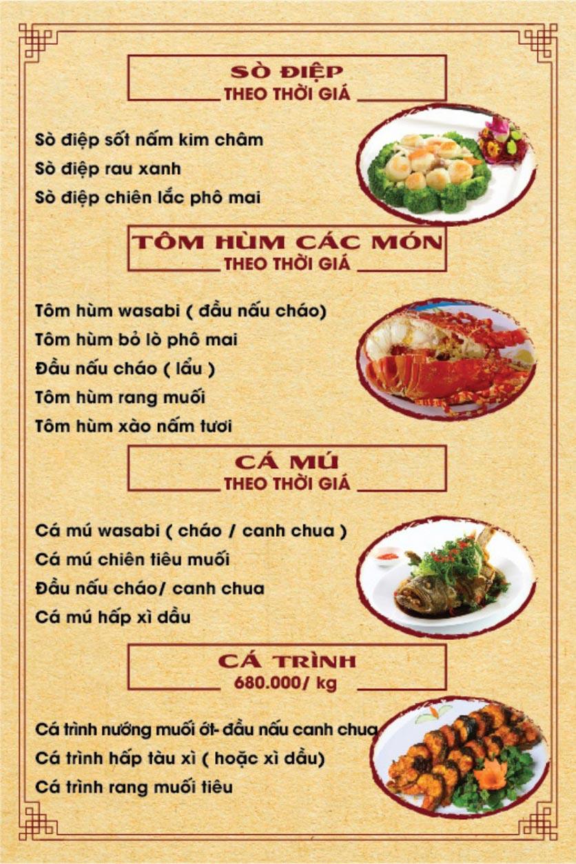 Menu Hương Quê - Nguyễn Phong Sắc 2