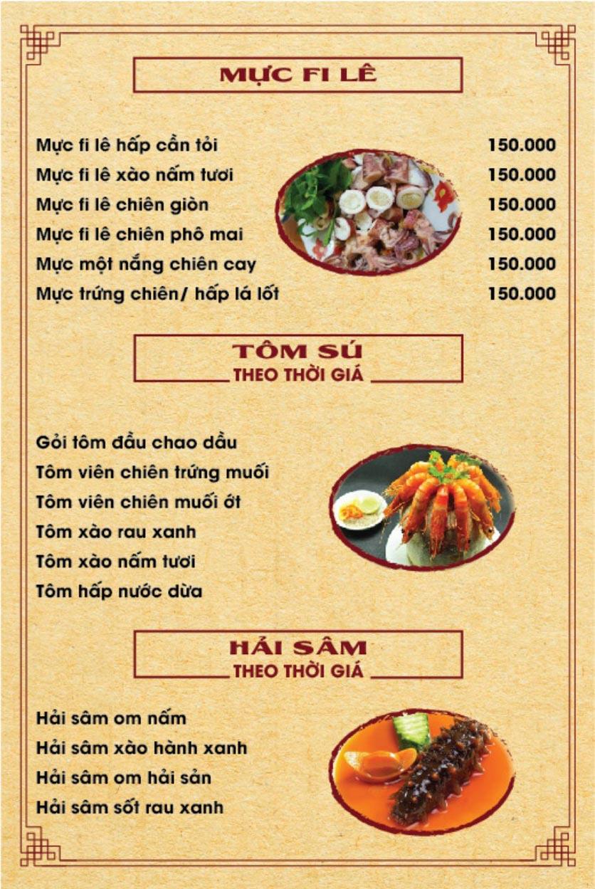 Menu Hương Quê - Nguyễn Phong Sắc 3