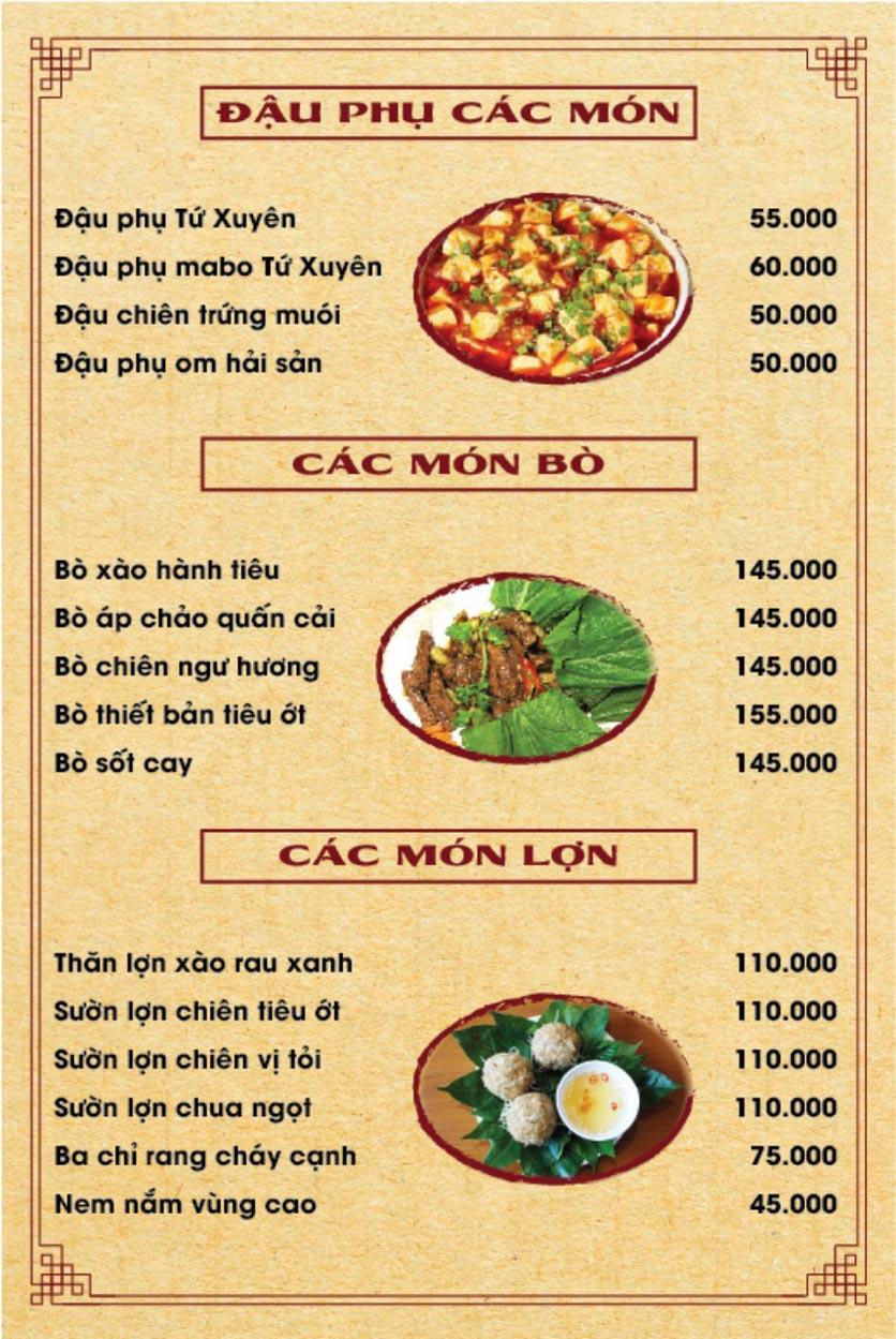 Menu Hương Quê - Nguyễn Phong Sắc 4