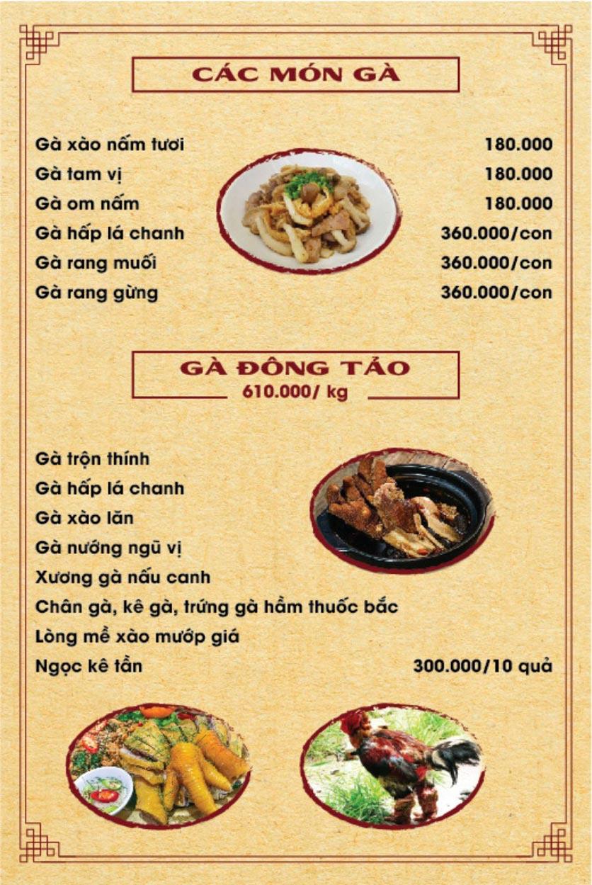 Menu Hương Quê - Nguyễn Phong Sắc 6