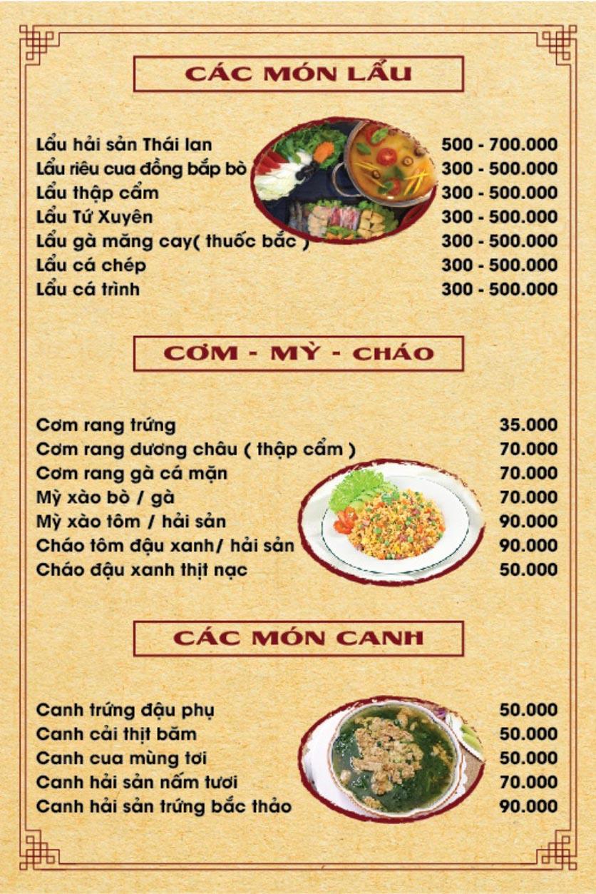 Menu Hương Quê - Nguyễn Phong Sắc 8