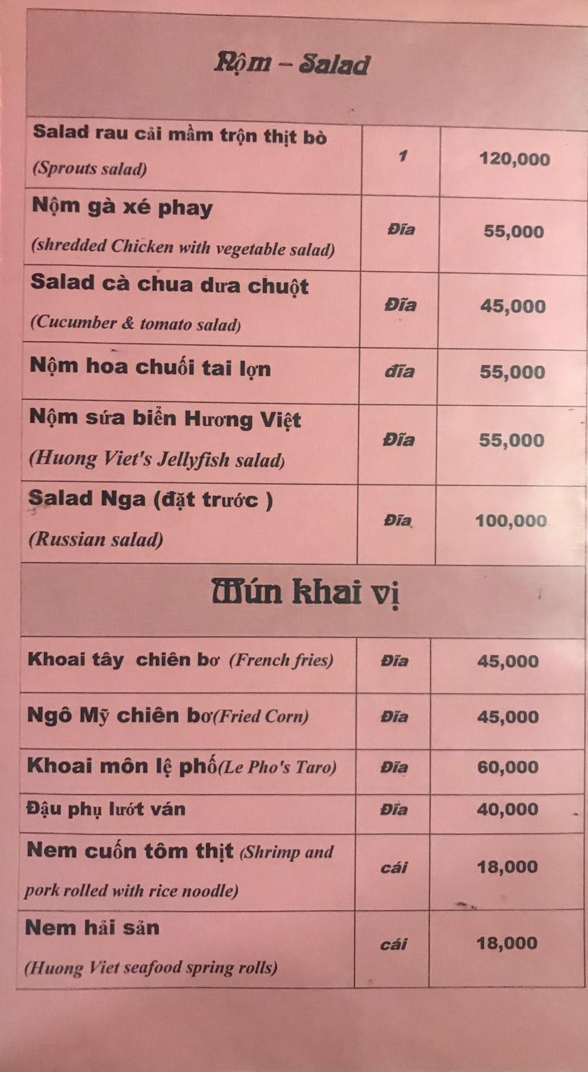 Menu Hương Việt - Đỗ Đức Dục   2