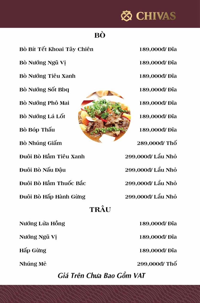 Menu Phương Xưa - Võ Văn Tần 11