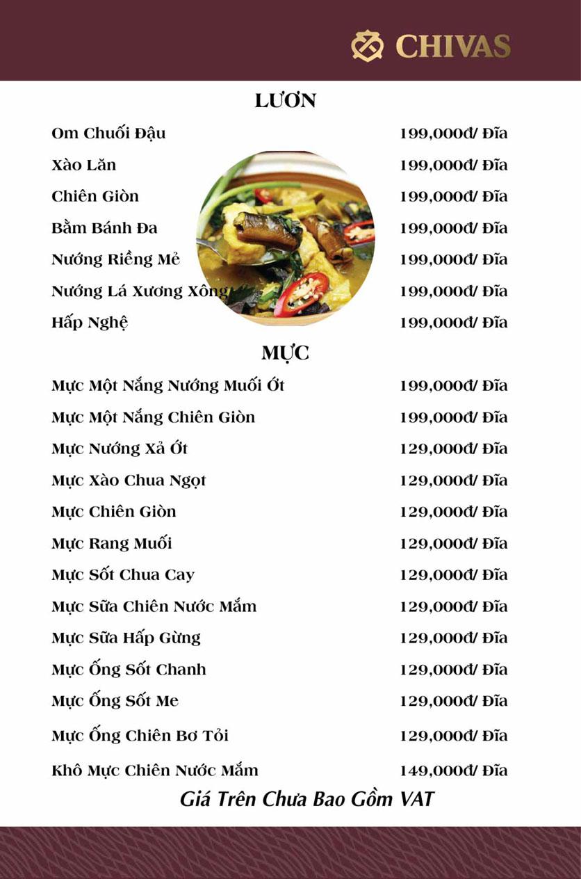 Menu Hương Xưa 1 - Võ Thị Sáu 12