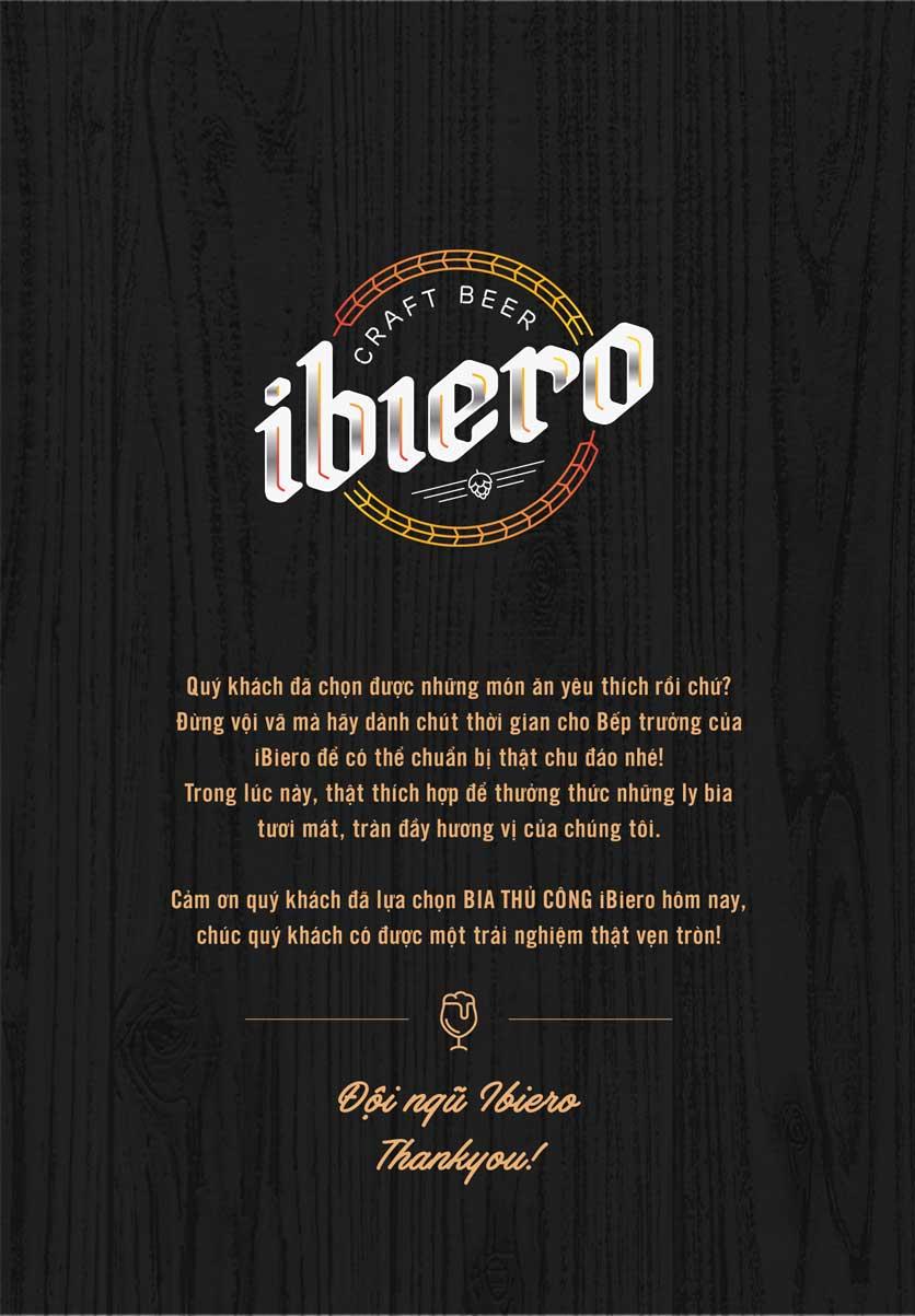 Menu iBiero Craft Beer Station – Lê Văn Lương 10