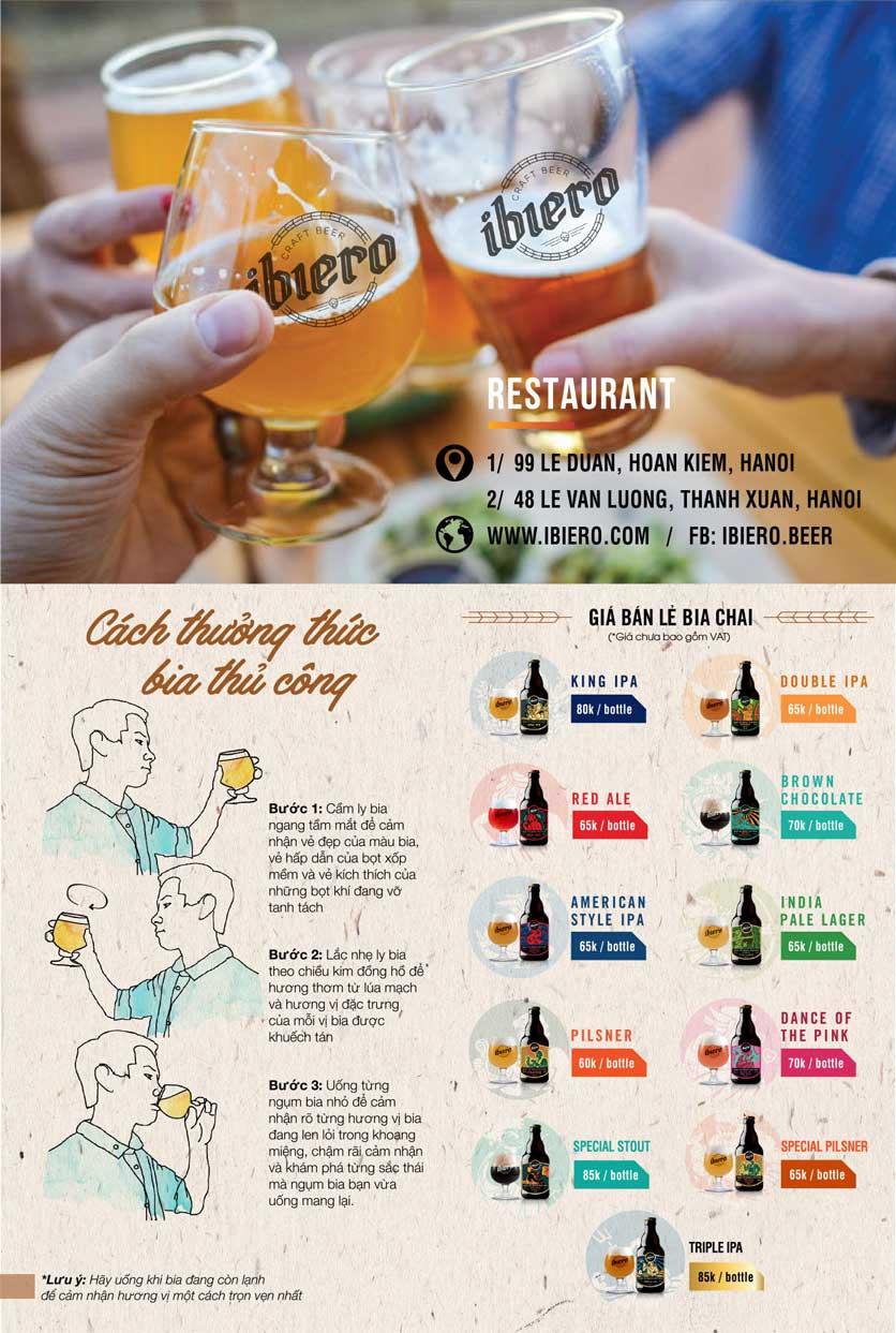 Menu iBiero Craft Beer Station – Lê Văn Lương 13