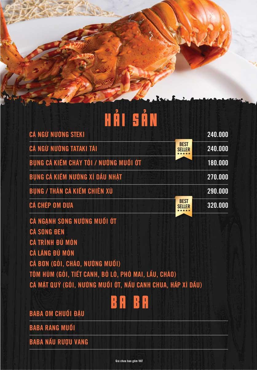 Menu iBiero Craft Beer Station – Lê Văn Lương 3