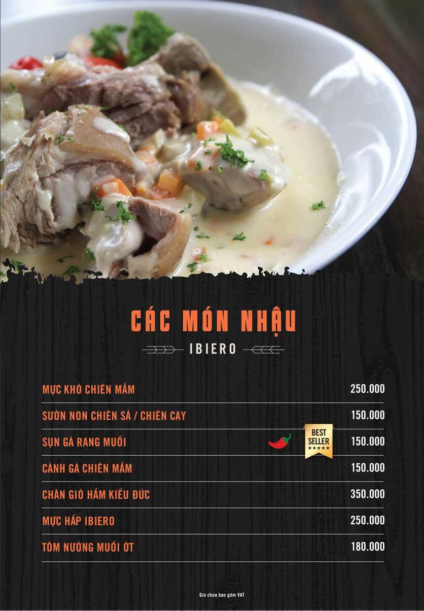 Menu iBiero Craft Beer Station – Lê Văn Lương 6