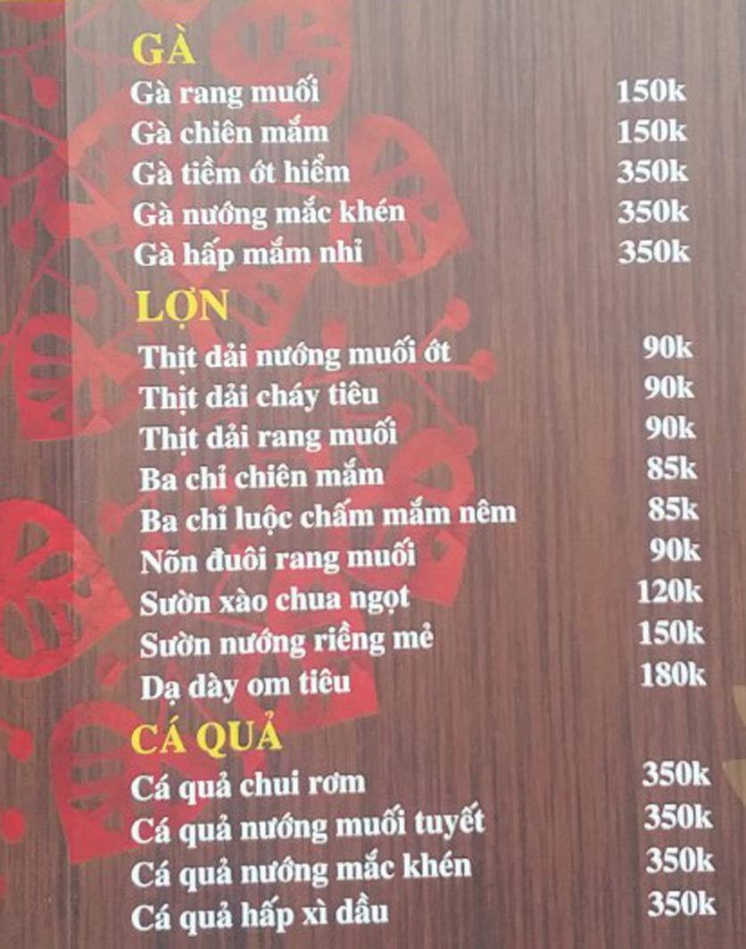 Menu IL Divo - Nguyễn Khoái 2