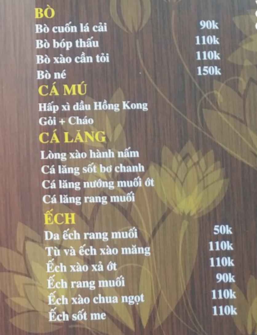 Menu IL Divo - Nguyễn Khoái 3