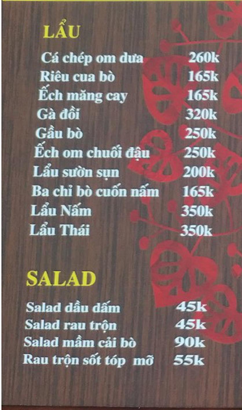 Menu IL Divo - Nguyễn Khoái 4