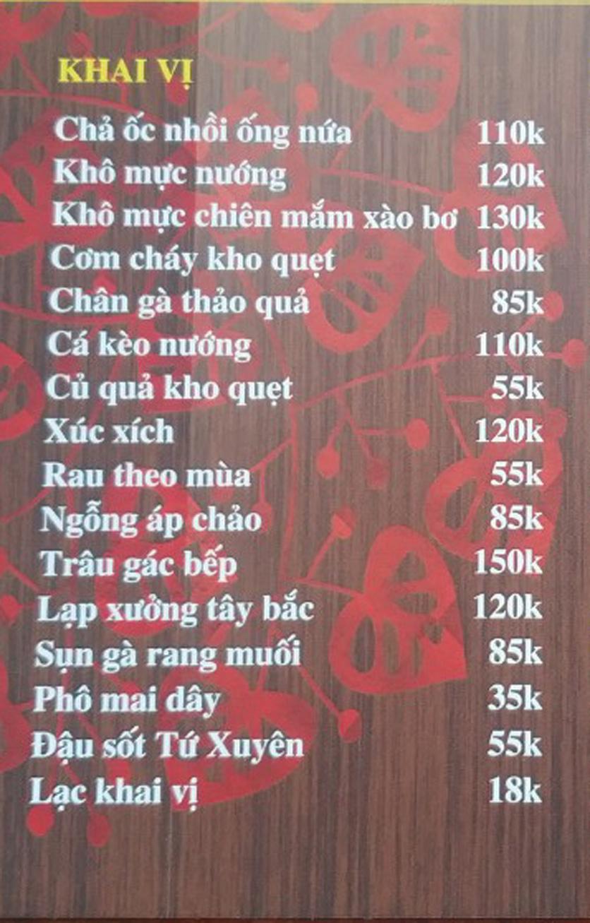 Menu IL Divo - Nguyễn Khoái 5