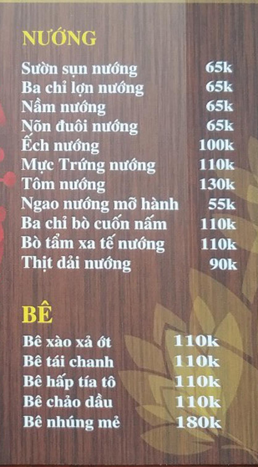 Menu IL Divo - Nguyễn Khoái 6