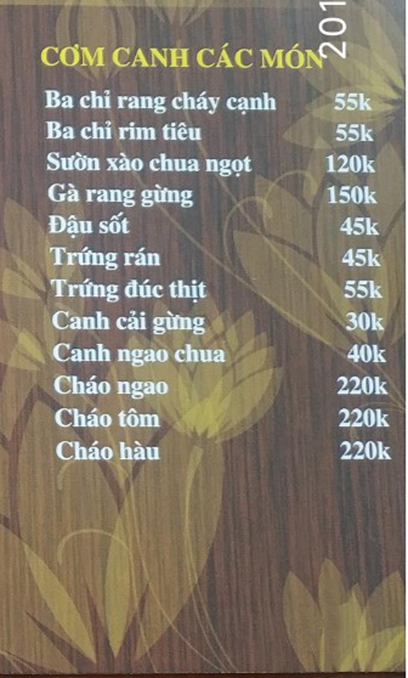 Menu IL Divo - Nguyễn Khoái 7
