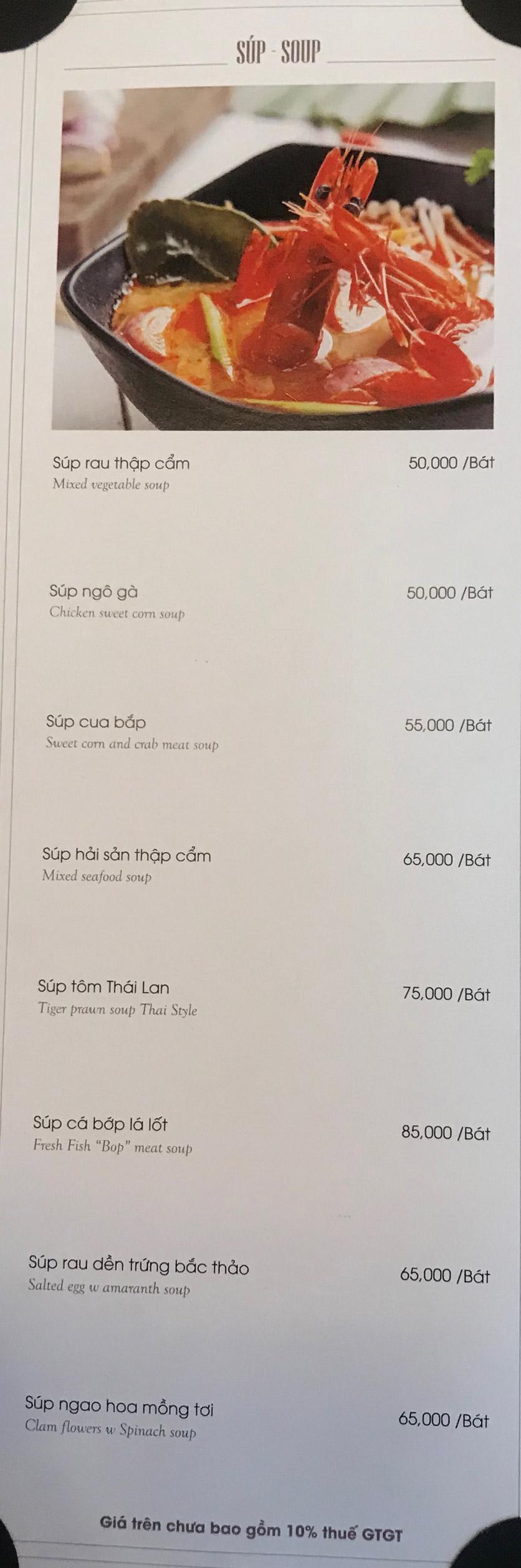 Menu Hai Lúa Sài Gòn - Beer & Restaurant - Nguyễn Chánh 3