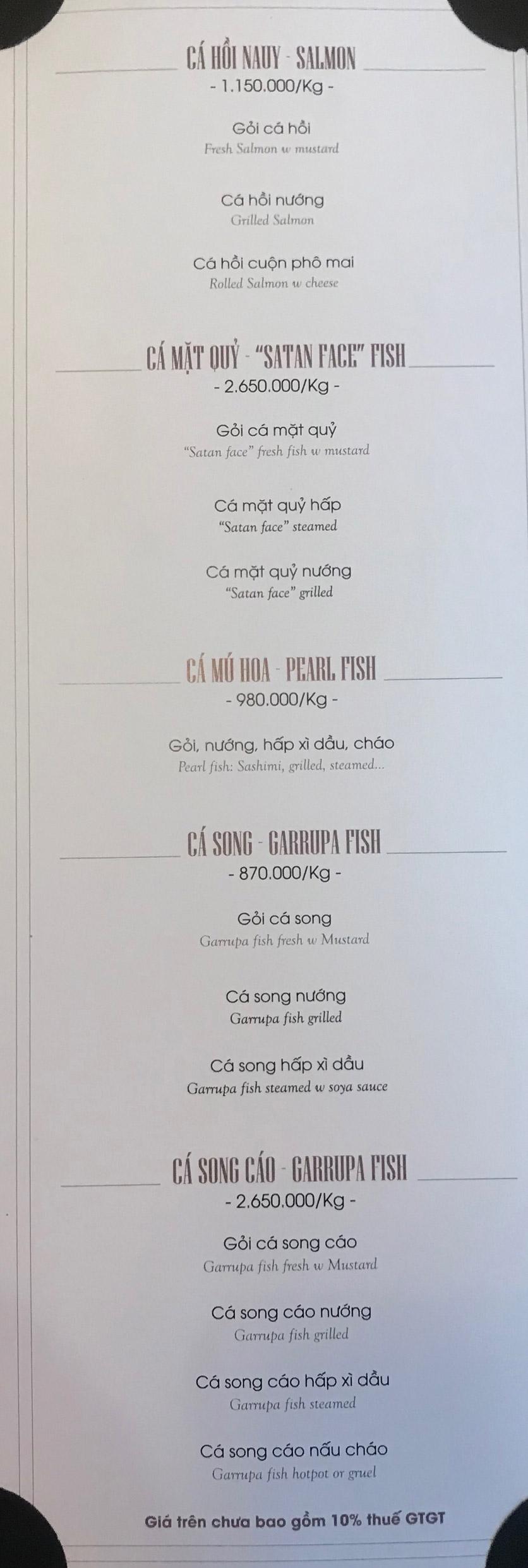 Menu Hai Lúa Sài Gòn - Beer & Restaurant - Nguyễn Chánh 5