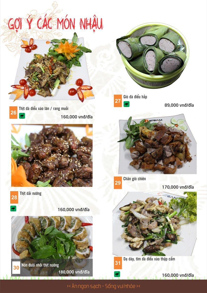 Menu iSteam - Nguyễn Thị Định 24