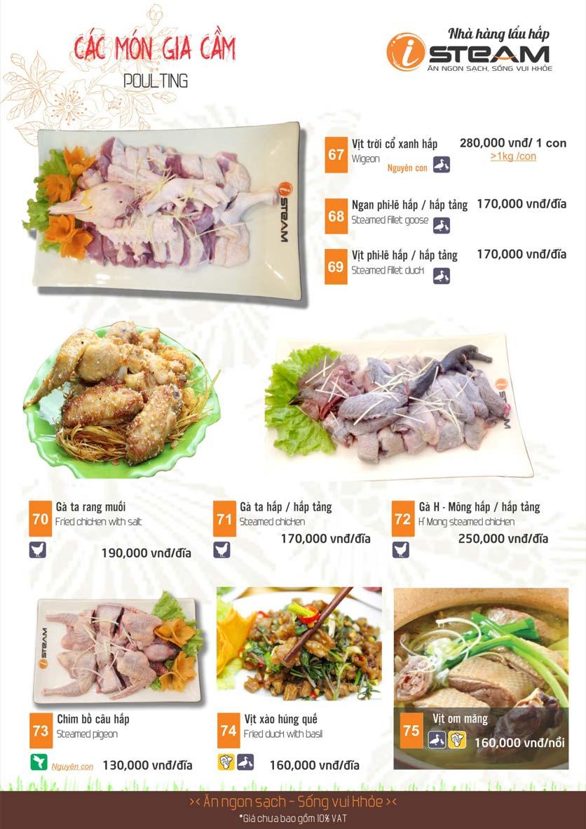 Menu iSteam - Nguyễn Thị Định 11