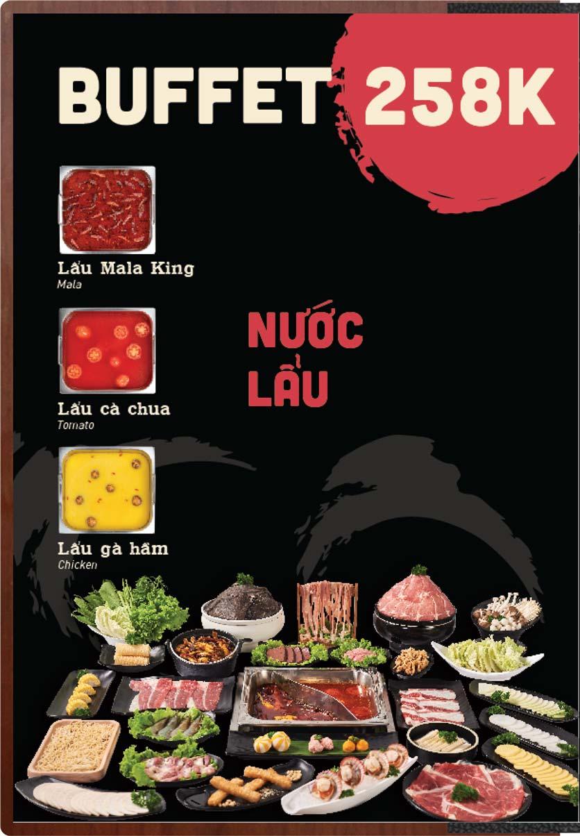 Menu Buffet Lẩu Ếch Jiang Hu - Sư Vạn Hạnh 1
