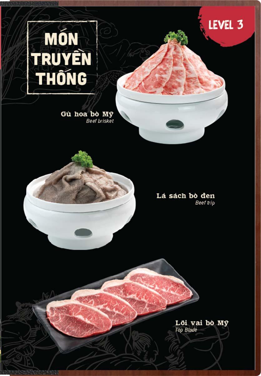 Menu Buffet Lẩu Ếch Jiang Hu - Sư Vạn Hạnh 24