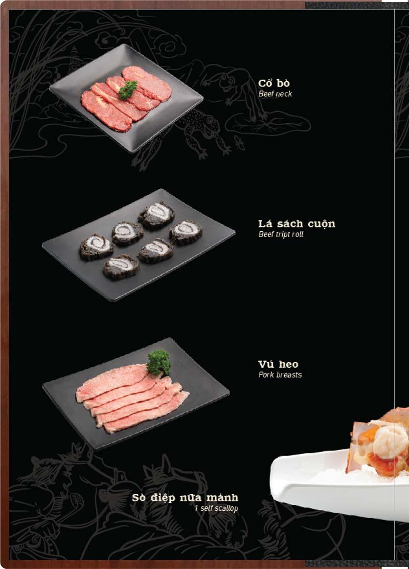 Menu Buffet Lẩu Ếch Jiang Hu - Sư Vạn Hạnh 25