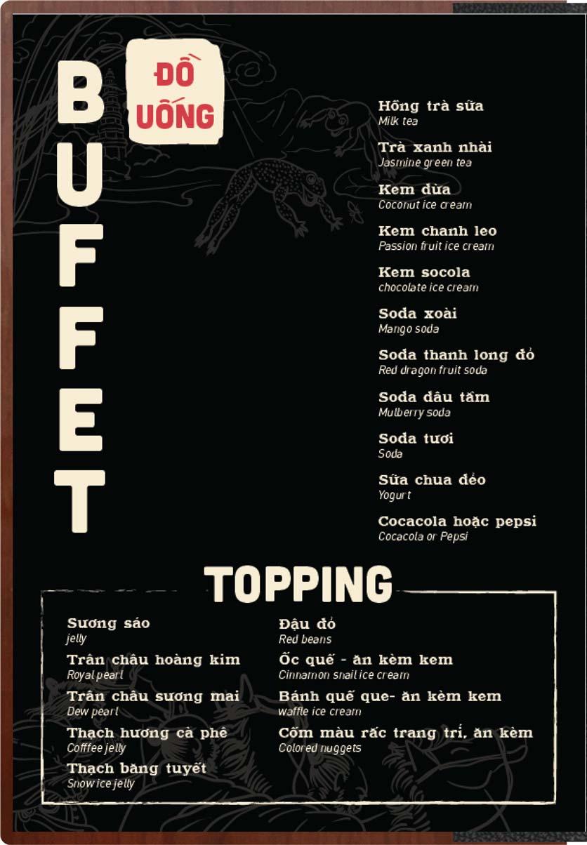 Menu Buffet Lẩu Ếch Jiang Hu - Sư Vạn Hạnh 29