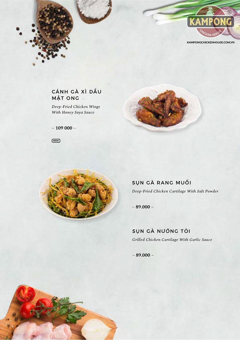 Menu Kampong Chicken House - Cơm gà Hải Nam - Lò Đúc 18