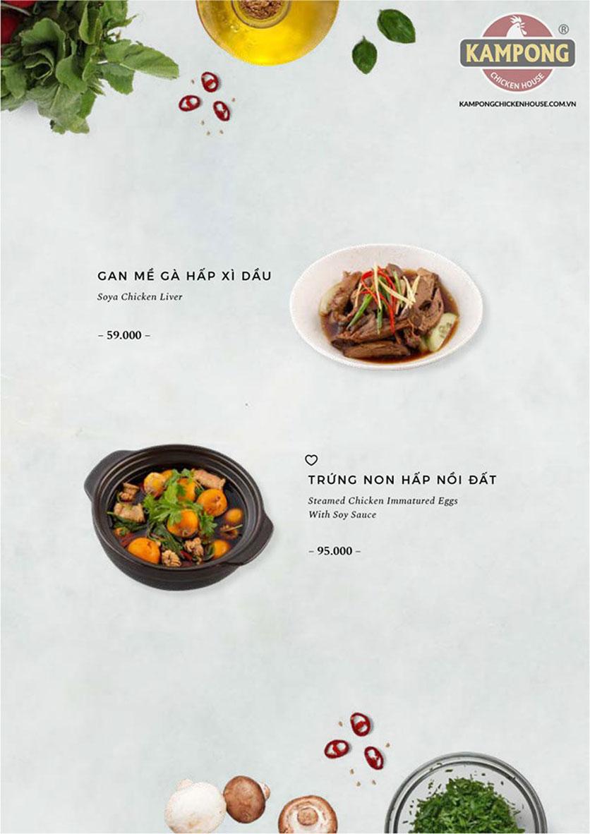 Menu Kampong Chicken House - Cơm gà Hải Nam - Lò Đúc 19