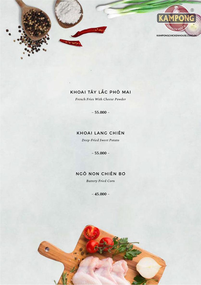 Menu Kampong Chicken House - Cơm gà Hải Nam - Lò Đúc 20