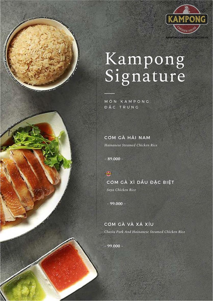 Menu Kampong Chicken House - Cơm gà Hải Nam - Lò Đúc 21