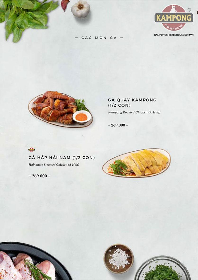 Menu Kampong Chicken House - Cơm gà Hải Nam - Lò Đúc 23