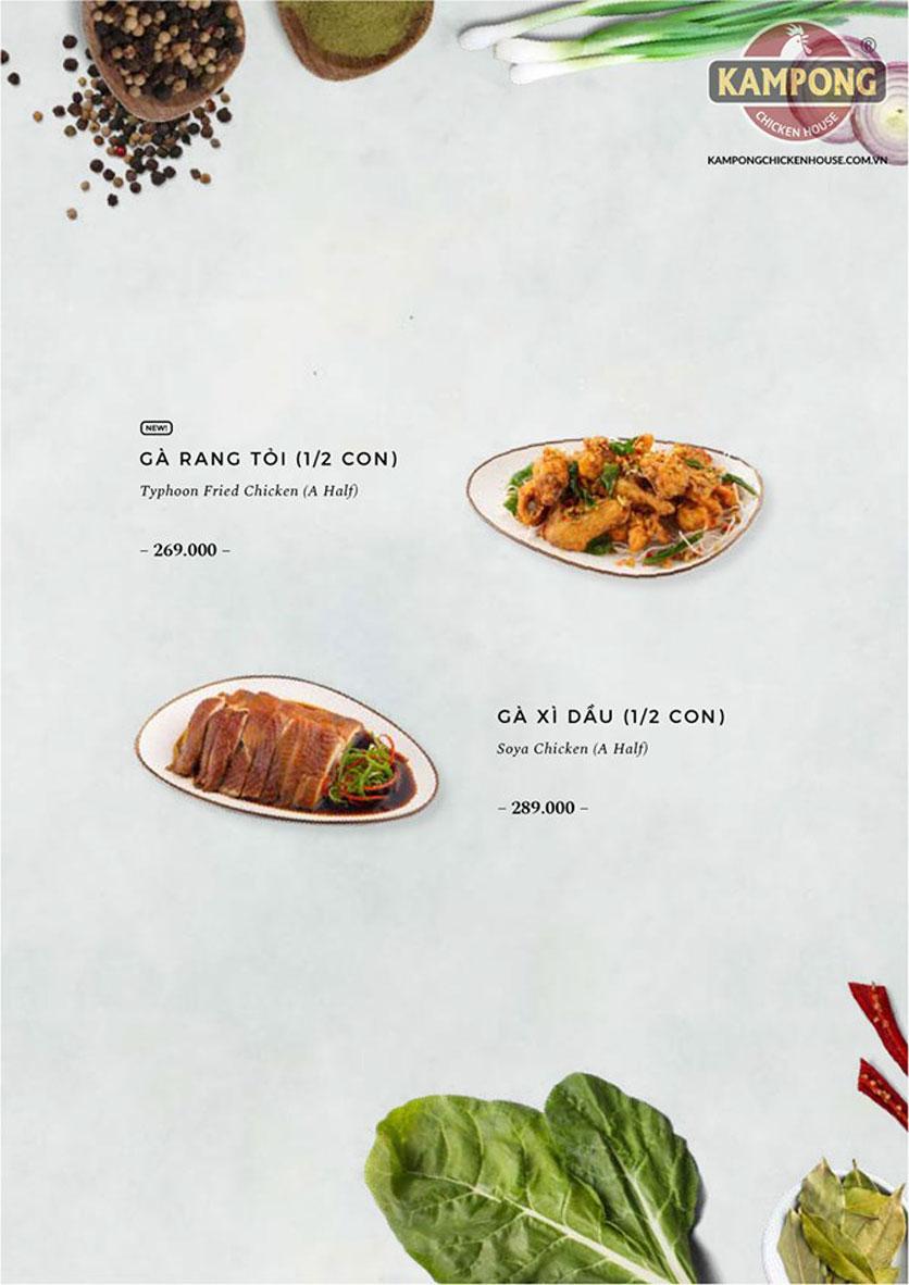 Menu Kampong Chicken House - Cơm gà Hải Nam - Lò Đúc 24