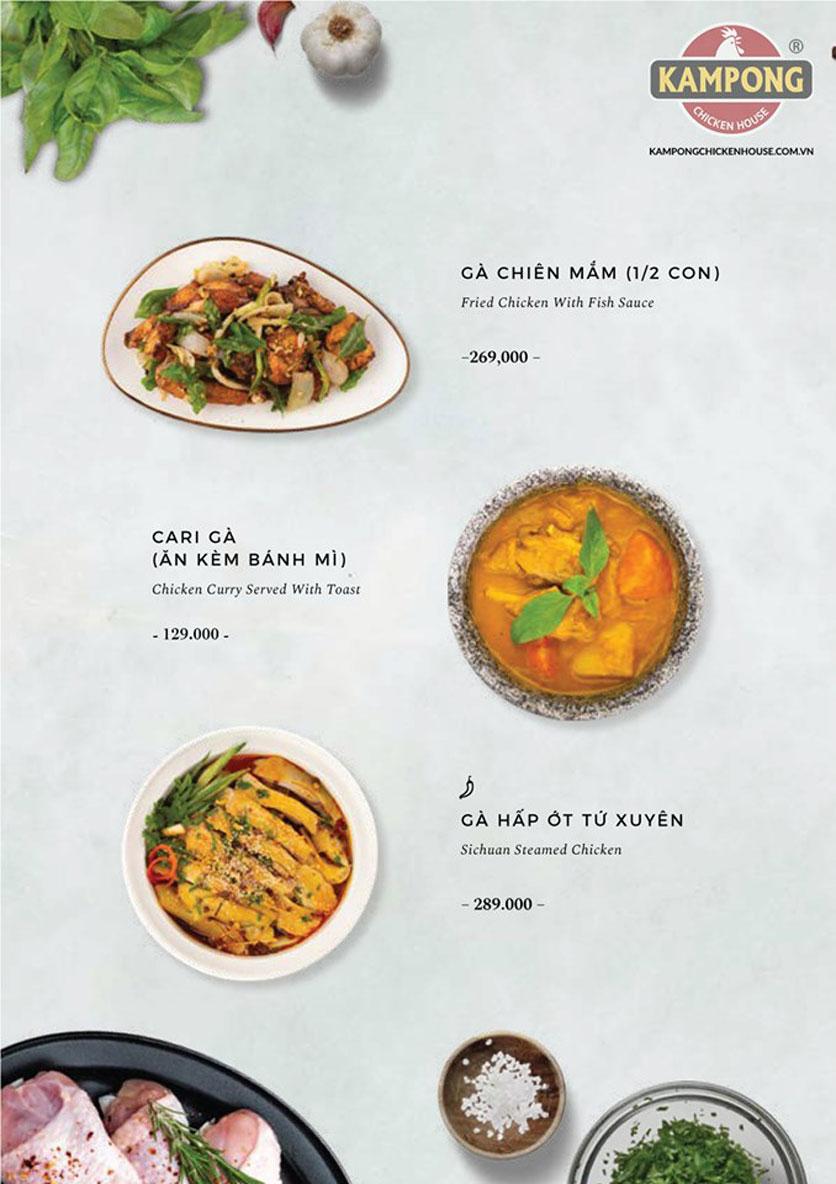 Menu Kampong Chicken House - Cơm gà Hải Nam - Lò Đúc 25