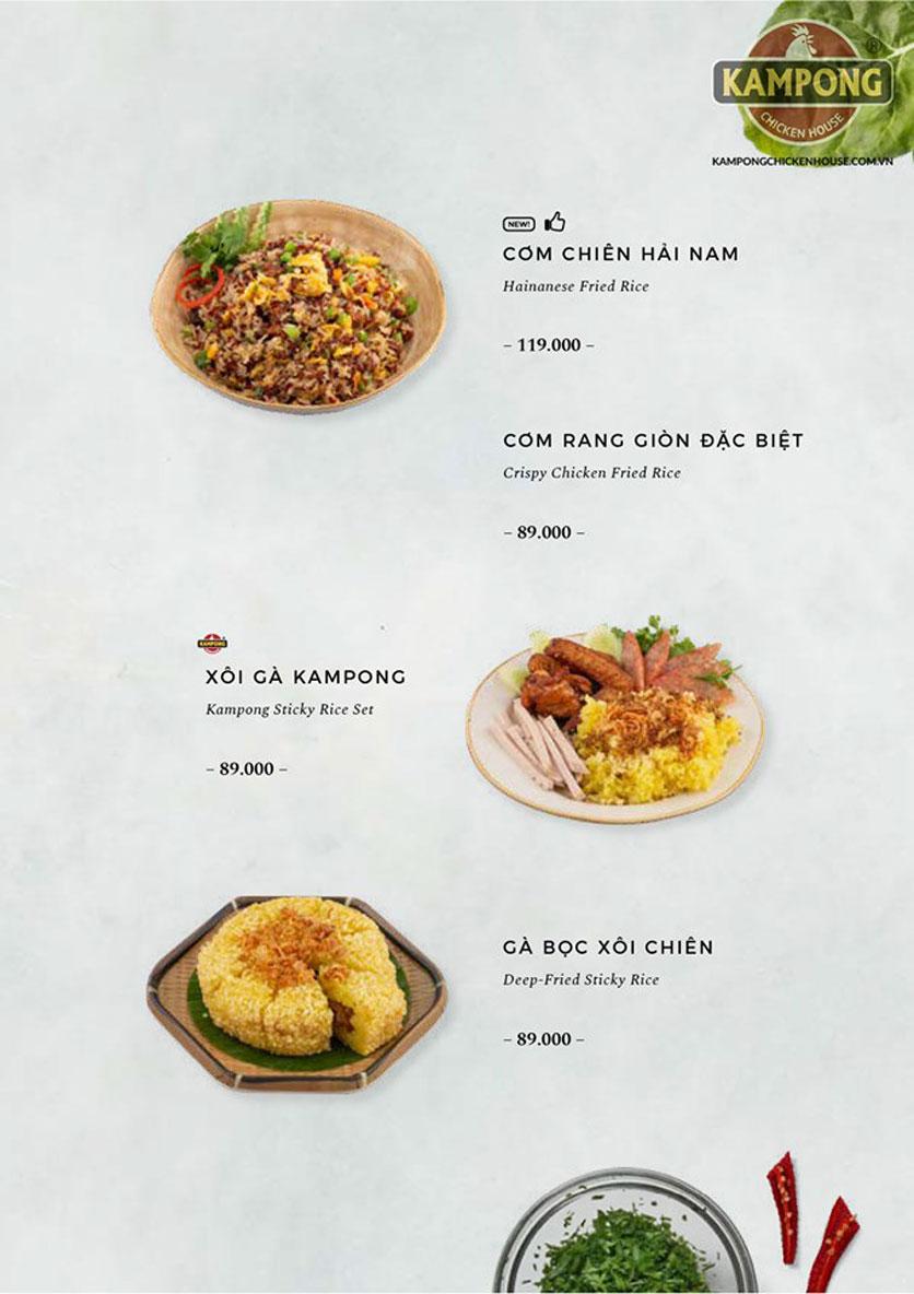 Menu Kampong Chicken House - Cơm gà Hải Nam - Lò Đúc 27