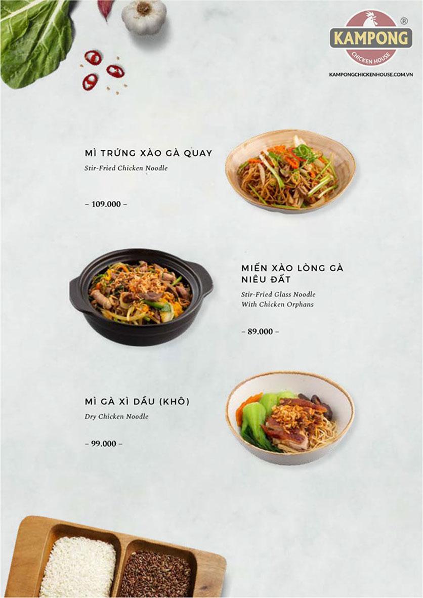 Menu Kampong Chicken House - Cơm gà Hải Nam - Lò Đúc 28