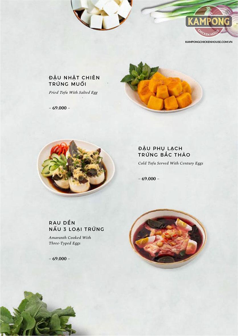 Menu Kampong Chicken House - Cơm gà Hải Nam - Lò Đúc 31
