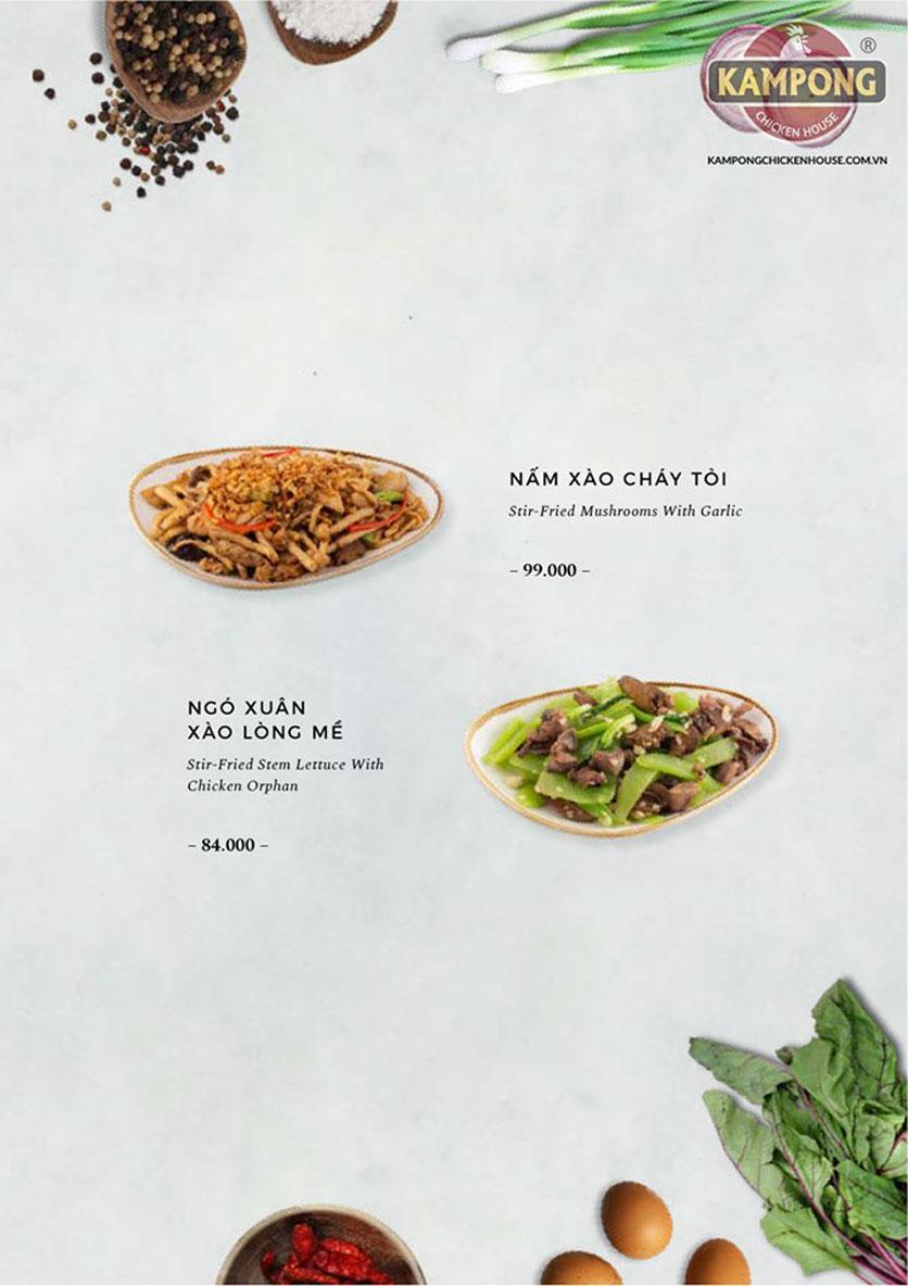 Menu Kampong Chicken House - Cơm Gà Hải Nam -  Nguyễn Hoàng   26