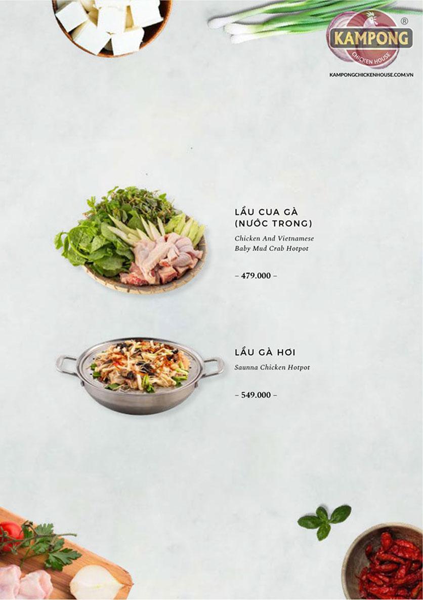 Menu Kampong Chicken House - Cơm gà Hải Nam - Lò Đúc 35