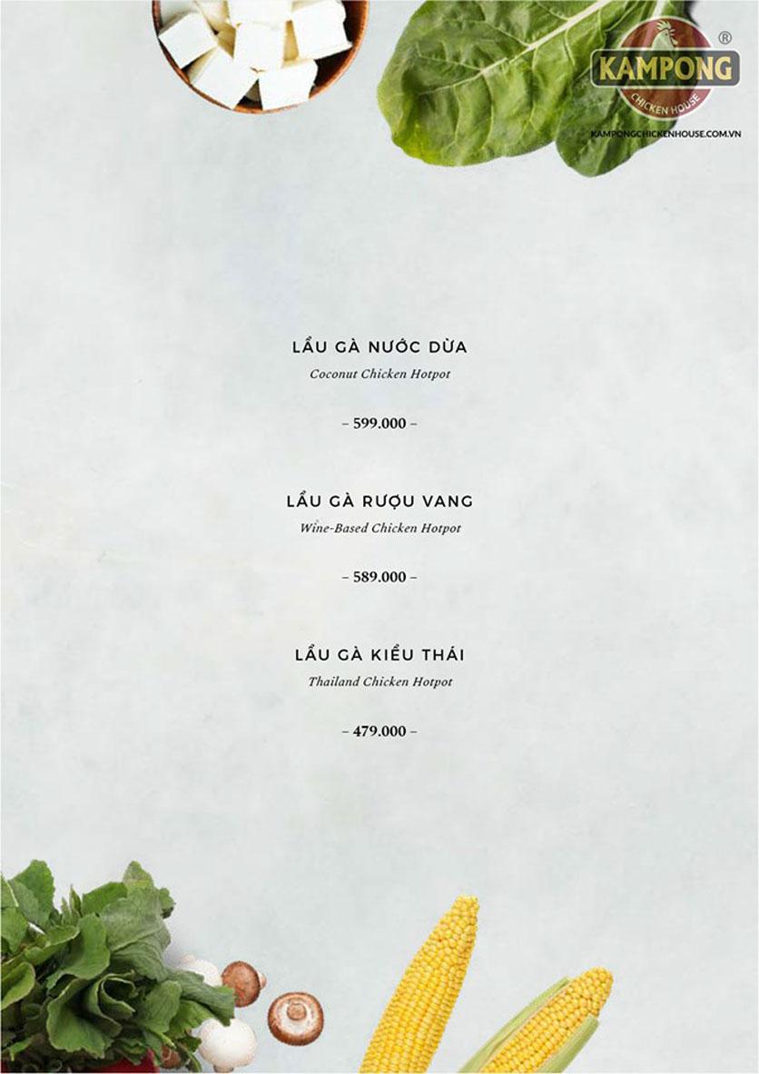 Menu Kampong Chicken House - Cơm Gà Hải Nam -  Nguyễn Hoàng   29
