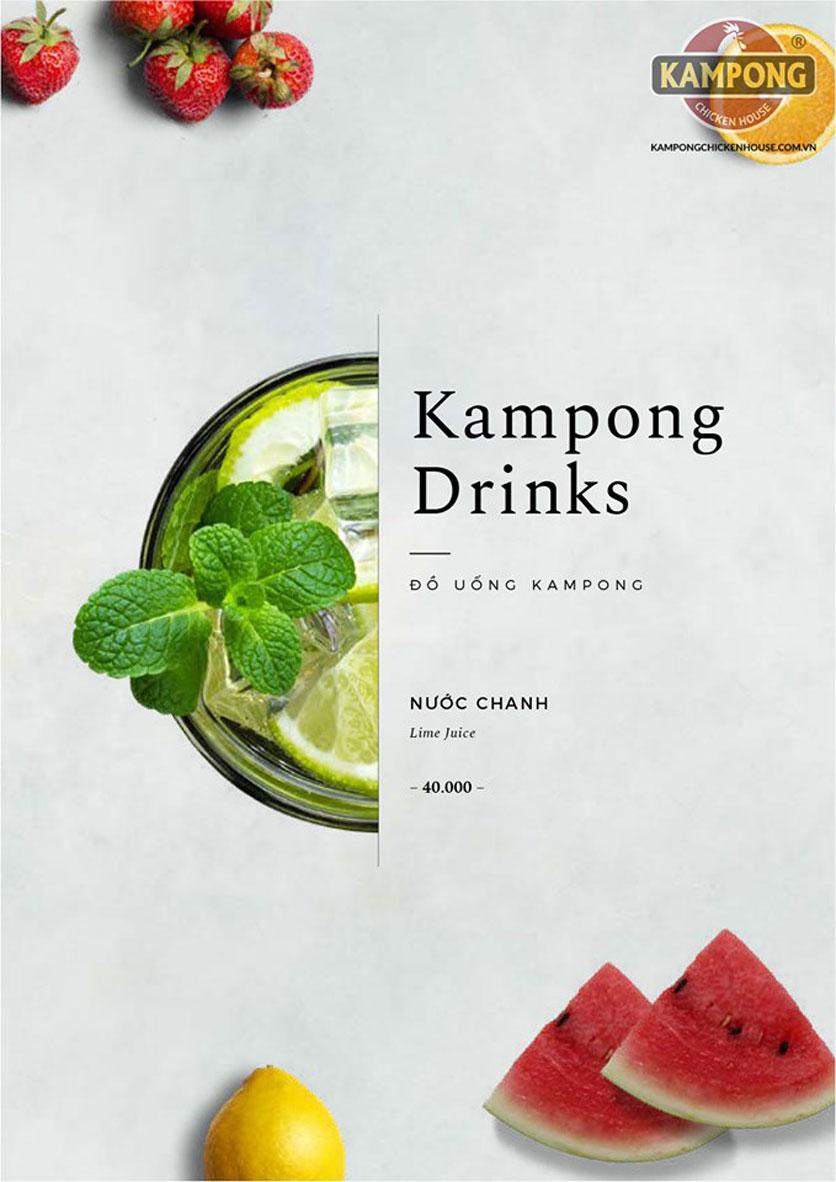 Menu Kampong Chicken House - Cơm gà Hải Nam - Lò Đúc 39