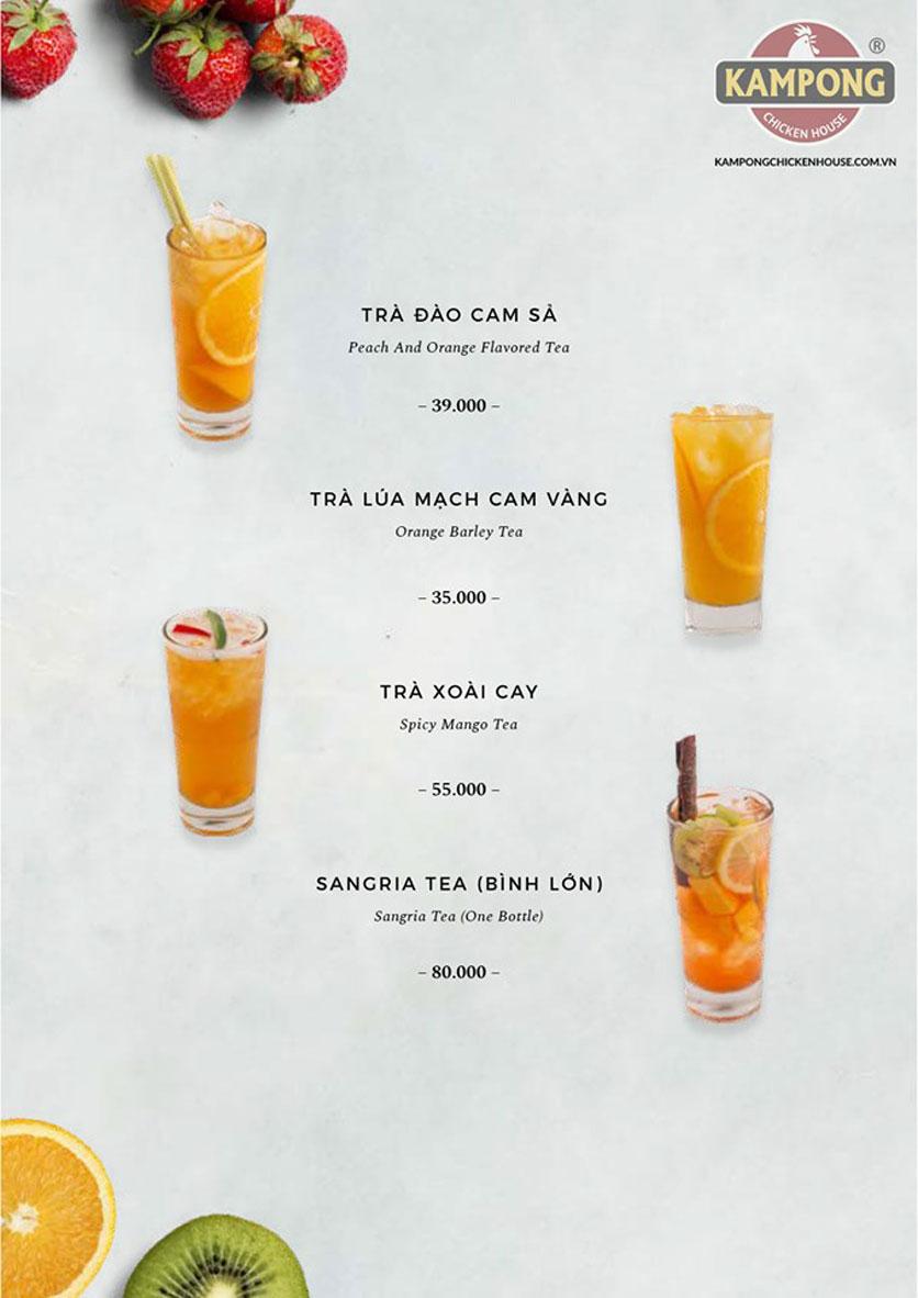 Menu Kampong Chicken House - Cơm gà Hải Nam - Lò Đúc 41