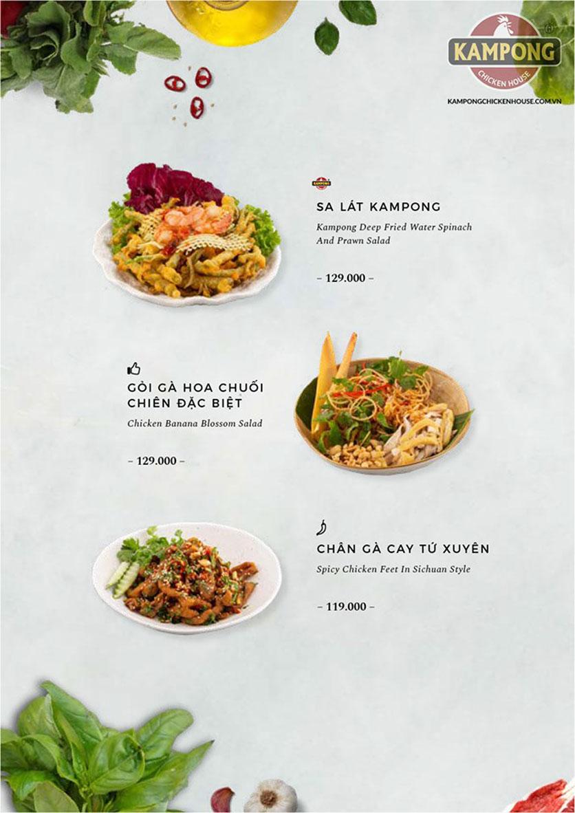Menu Kampong Chicken House - Cơm gà Hải Nam - Lò Đúc 13
