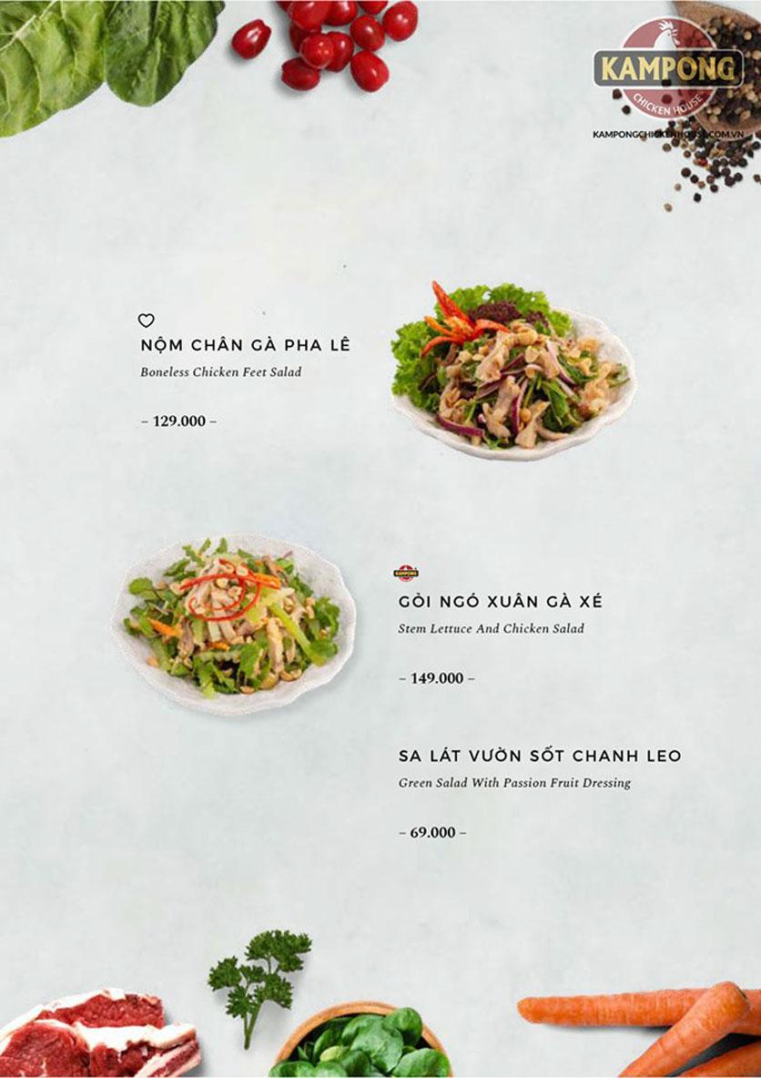 Menu Kampong Chicken House - Cơm gà Hải Nam - Lò Đúc 14