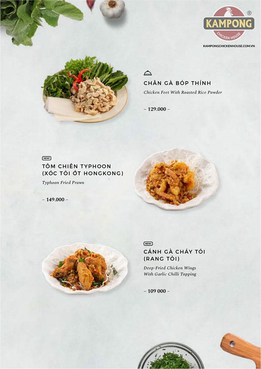 Menu Kampong Chicken House - Cơm gà Hải Nam - Lò Đúc 17