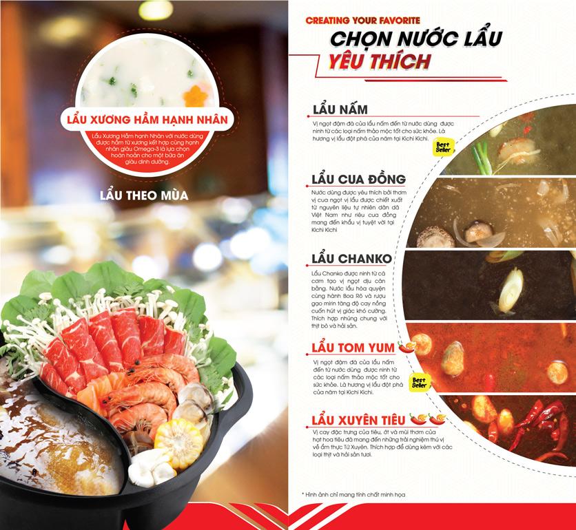 Menu Lẩu Băng Chuyền Kichi Kichi - Nguyễn Xí 1