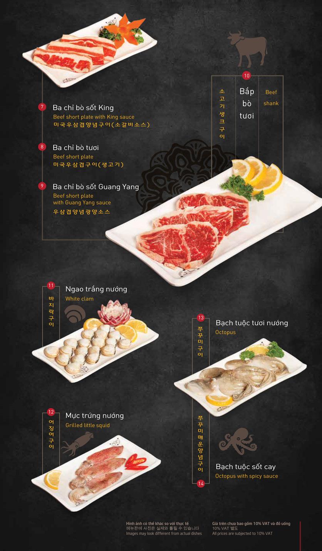 Menu King BBQ – Giảng Võ  2
