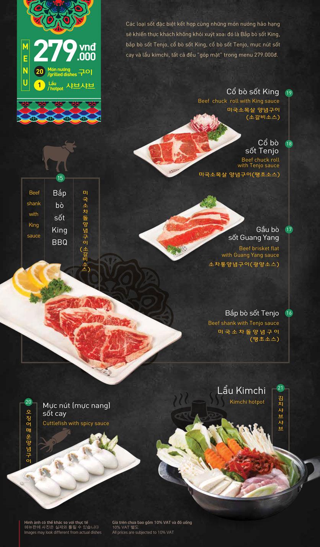 Menu King BBQ – Giảng Võ  3