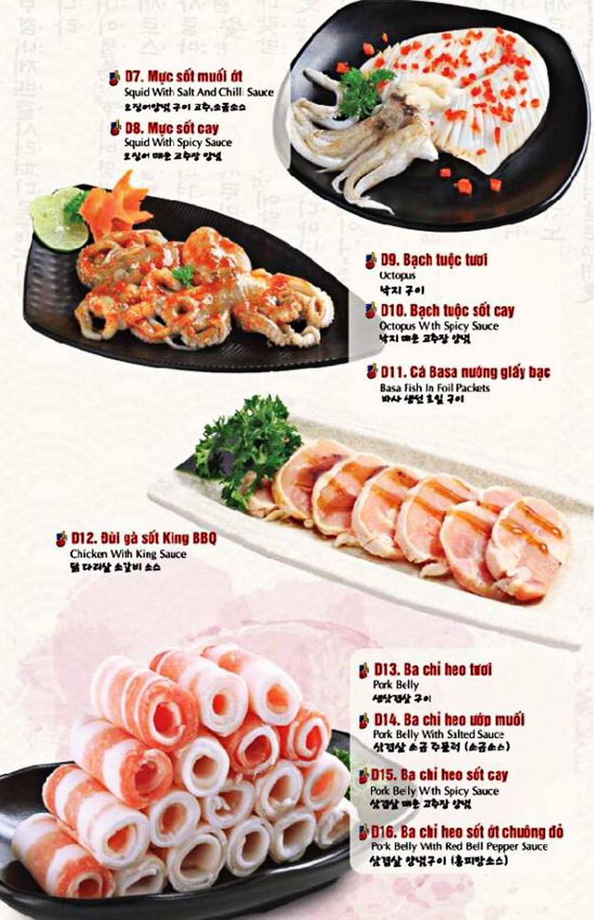 Menu King BBQ Buffet - Nguyễn Văn Quá  12
